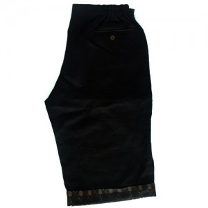 black linen shortsback