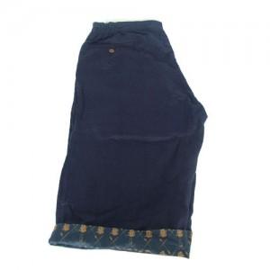 blue linen shorts2
