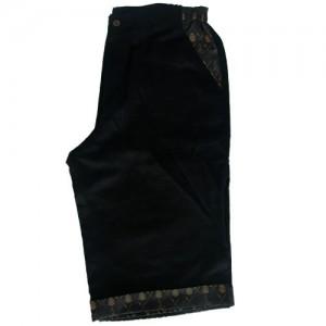 linen shorts black