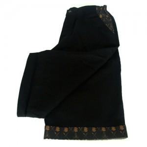 linen shorts black2