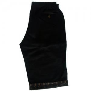 black linen shortsback